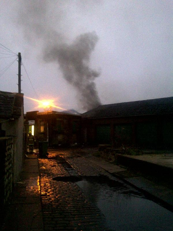 Large fire at Nelson coffin factory