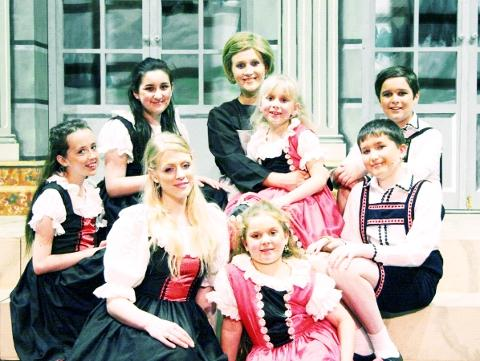 Lancashire Telegraph: The Dominoes team of Von Trapp children
