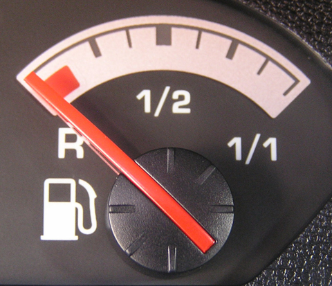 Drivers have been advised by the Government to top-up half-empty tanks