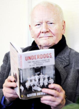 Author Keith Dewhurst and his book, Underdogs.