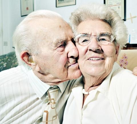 LASTING LOVE Tom and Frances, married for 70 years