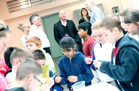 Rovers legend Alan Shearer visits the Youth Zone.