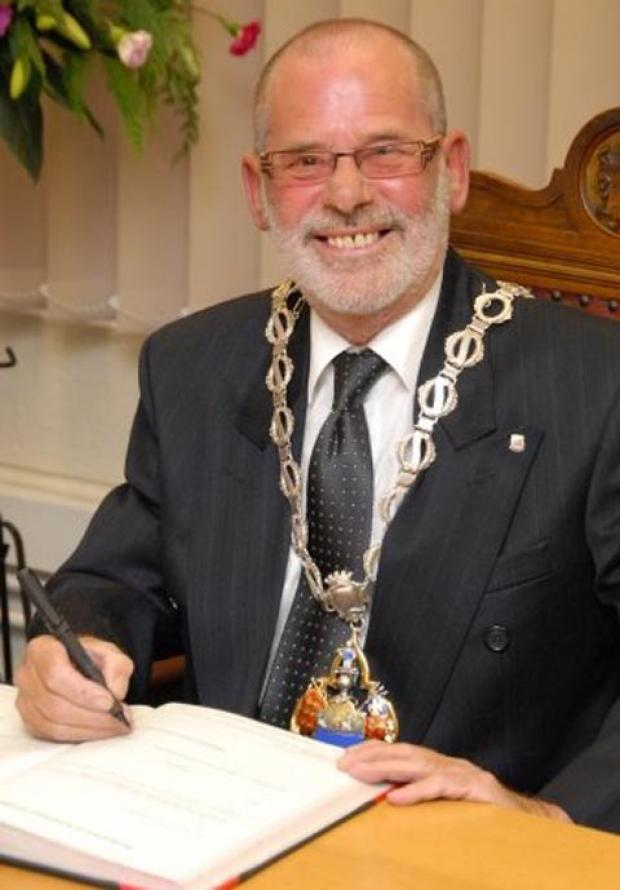 Paul Browne was Darwen's first mayor since 1973.