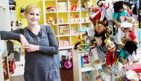 Beth at Timeless Toys in Barrowford.