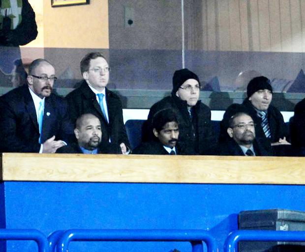 IN ATTENDANCE Balaji Rao, now shorn of his ponytail, and Venkatesh Rao in the front row at Tuesday's game