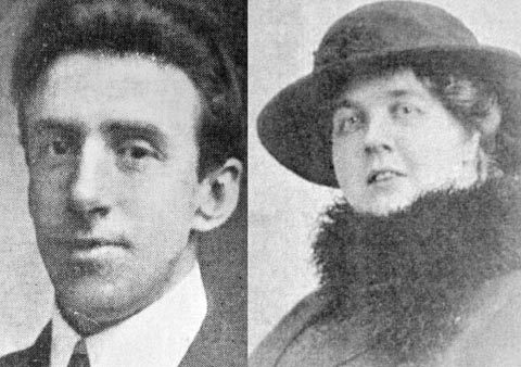 Colne bandmaster Wallace Hartley and Maria Robinson, the fiancee he left behind.