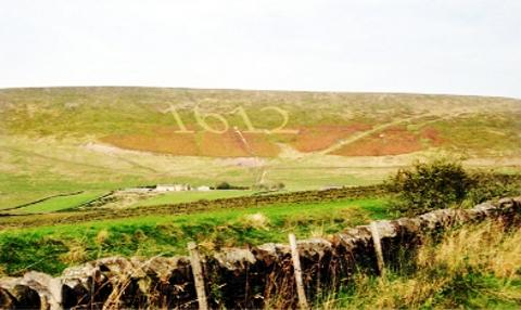 'A SILLY IDEA' An artist's impression of how the daubing will look on Pendle