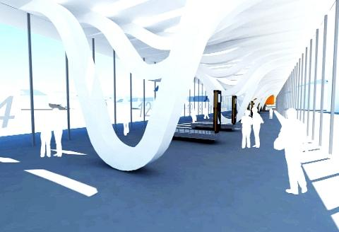 Lancashire Telegraph: DESIGN A graphic of how the new bus station interior will look