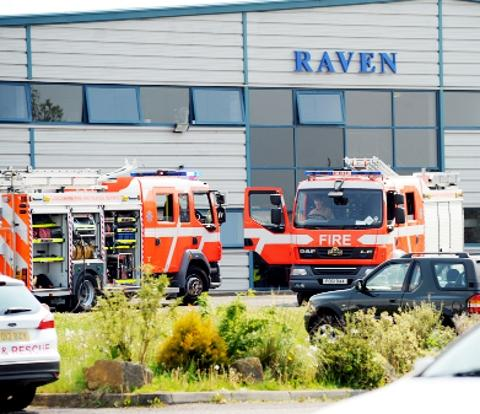 SCENE Workers were evacuated from the Skyware Global factory