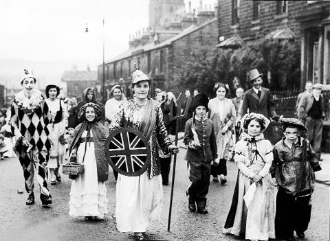 A fancy dress parade through Burnley