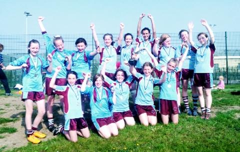 VICORY Super St Augustine's who won the girls rugby league event at Accrington Academy