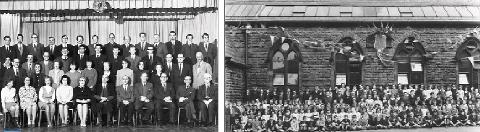 FLASHBACK Left, Billinge Grammar School, right, St Thomas' juniors