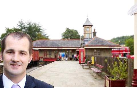 HERITAGE LINE Rawtenstall station and, inset, MP  Jake Berry