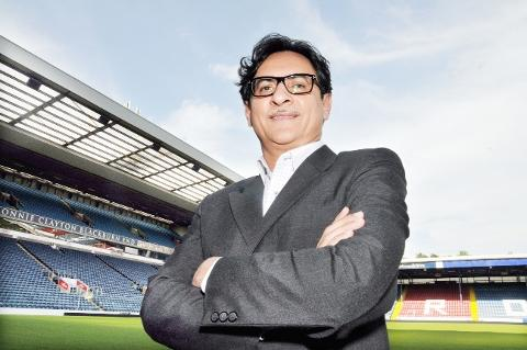 RUNNING THE SHOW Blackburn Rovers' global advisor Shebby Singh at Ewood Park yesterday