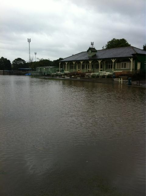HOME FOR DUCKS: The scene at Ramsbottom CC