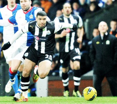 KEAN KNOWS BEST Newcastle striker Leon Best takes on Rovers at  Ewood Park last season