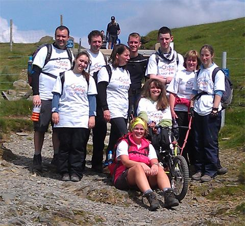Laura and friends on their Snowdon trek