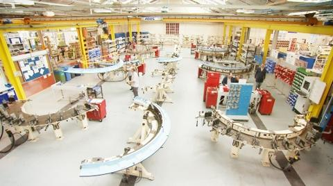 Factory Making A380 components at Aircelle in Burnley