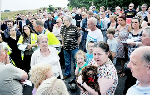 FED UP Residents pack a meeting about the terrible fly problem in Oswaldtwistle last night