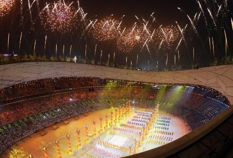 hard act to follow The opening ceremony at Beijing in 2008