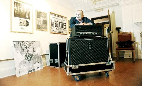 SOUNDS OF THE SIXTIES Bernie Fullalove with the amplifier used by The Beatles
