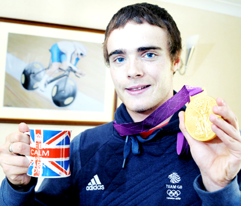 Steven Burke with his Olympic medal