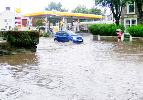Flooding in Darwen last year