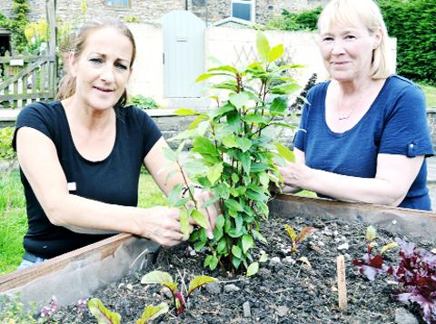 Pauline Townsend and Lynne Barnes of the Trawden Co-operative