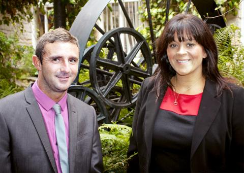 Account manager Lawson Connell and branch manager Helen Jackson