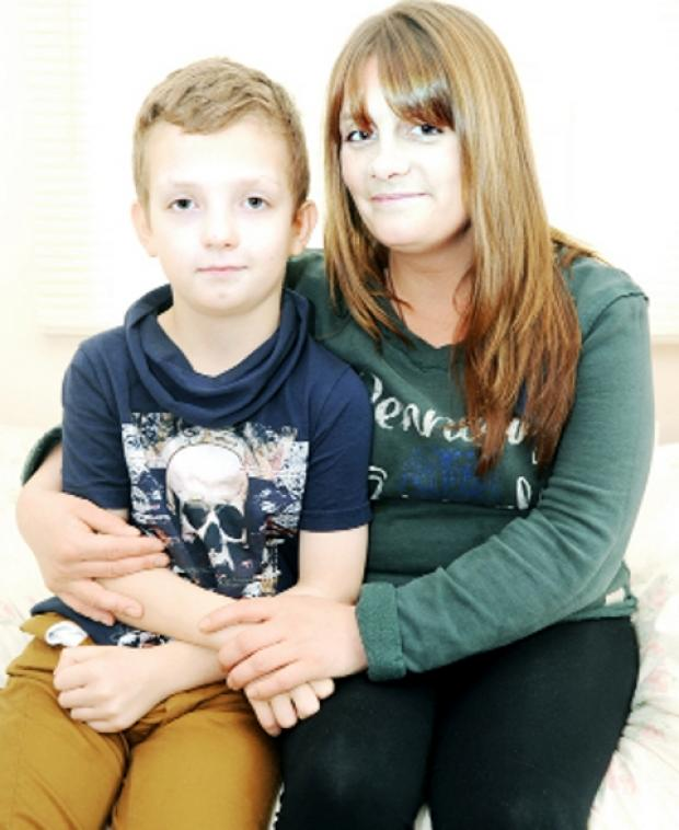 RECOVERING Emma Matthews and her son Leighton, 10