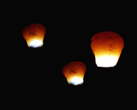 Chinese lanterns often cause false alarms
