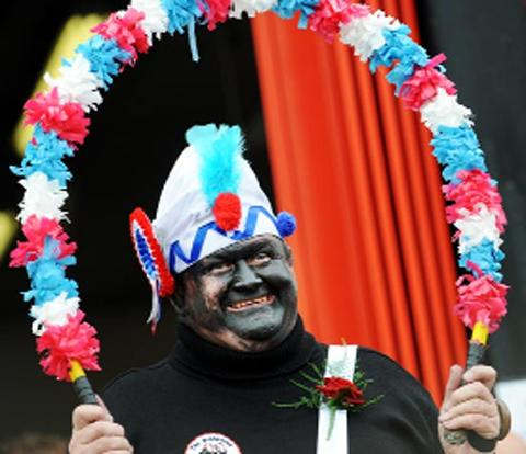 One of the Britannia Coconut Dancers