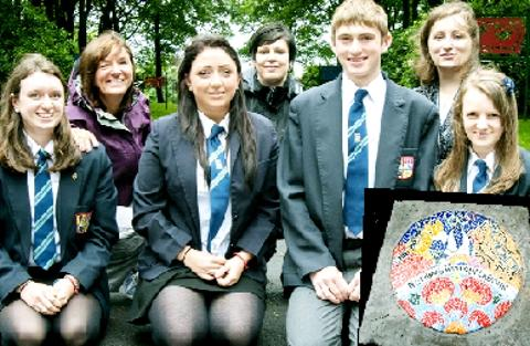 HELPING HANDS Year Seven to Year 10 pupils from Haslingden High School helped to recreate the mural, inset, at Victoria Park