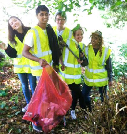 Youngsters clean up with enthusiasm after vandalism attacks