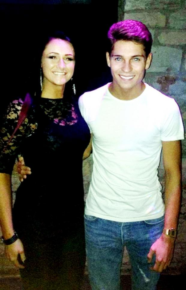 ALL SMILES Joey Essex with Becky Hilton – fiancee of Fusion nightclub owner Shaun O'Neill