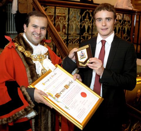 Lancashire Telegraph: Steven Burke becomes a freeman of Pendle