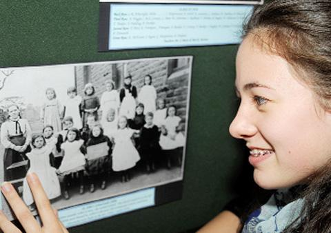 Sophie Clark, 13, spotted her great-great-grandmother in one of the photos