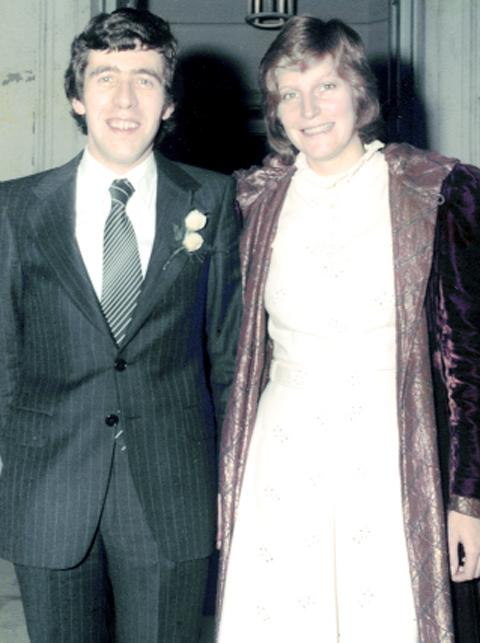Jack Straw with second wife Alice on their wedding day in 1978
