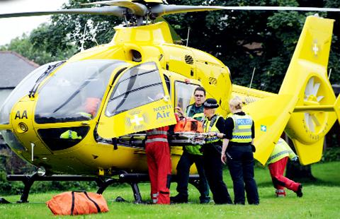 The air ambulance in action