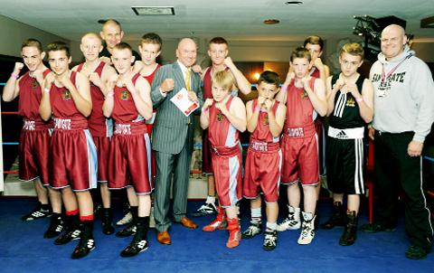The Sandygate Amateur Boxing Club team