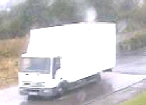 One of the vehicles involved in the raid