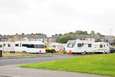MOVED ON Travellers in Tay Street, Burnley