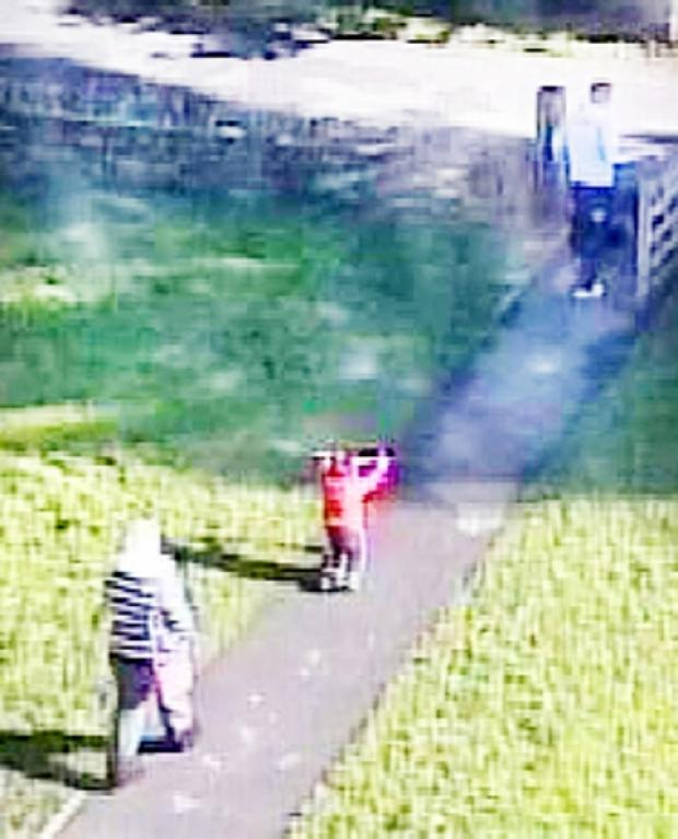 CLUE CCTV of the incident at the playground in Earby