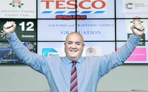 Former Rovers player Jim Branagan now works for Tesco