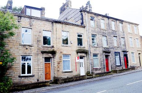 SCENE The house in Westgate, Burnley, which police surrounded