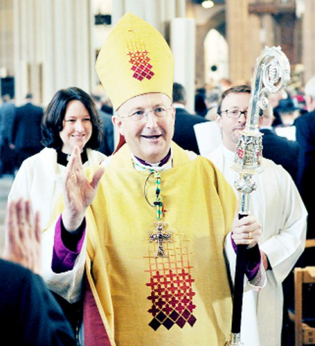 The Rt Rev Nicholas Reade at his final Cathedral Eucharist as Bishop of Blackburn