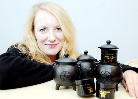 Julieann Parry with some of the Pendle Witch range