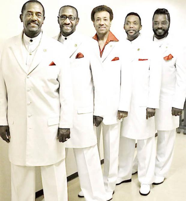 STAR TURN Richard Street, centre, and The Temptations