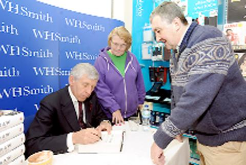 Jack Straw with friends Mike and Maura Madigan.