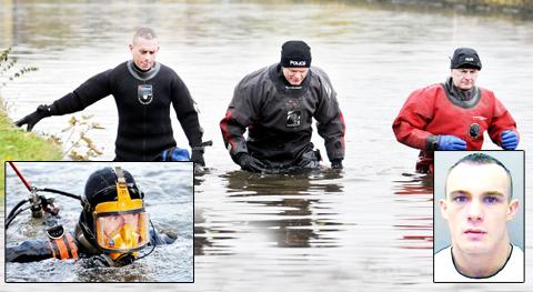 Police searched the canal yesterday as fears grow for missing dad David Young